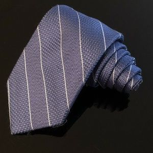 Michael Kors Men's Necktie Silk Blue Striped (i)